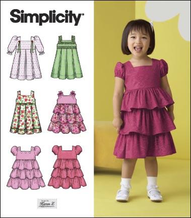 Simplicity Toddler Dresses 2709