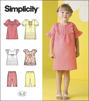 Simplicity Child Dress, Tunic & Shorts 2711