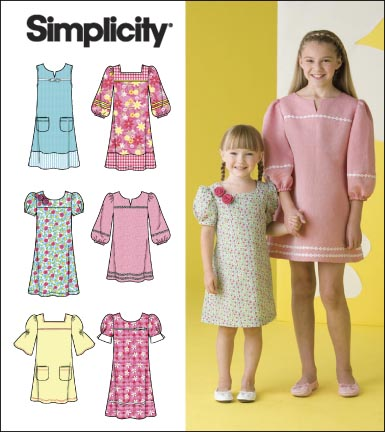 Simplicity Child Or Girl Pullover Dresses 2712