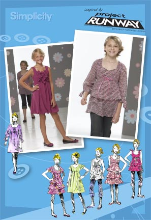 Simplicity Girl or Girl Plus Dresses & Tunics: Project Runway Collection 2714