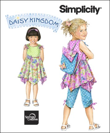 Simplicity Child Dress, Top, Capri Pants & Backpack: Daisy Kingdom Collection 2716