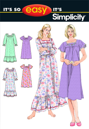 Simplicity MISSES' NIGHTGOWN IN TWO LENGTHS 2731