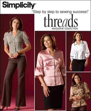 Simplicity MISSES' BLOUSES IN TWO LENGTHS WITH CUP SIZES B,C,D 2732