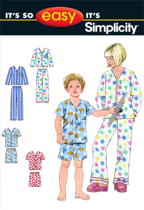 Simplicity CHILD'S AND GIRLS' AND BOY'S PAJAMAS IN TWO LENGTHS 2738