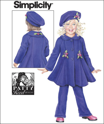Simplicity CHILD'S FLEECE COAT, PANTS AND HAT- HAT IN THREE SIZES 2745