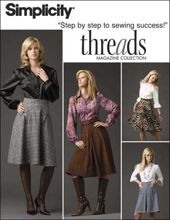Simplicity Misses pleated skirt in 2 lengths, half circle skirt and shirt 2758