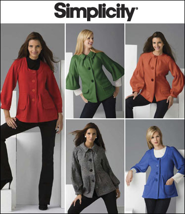 Simplicity Misses Jackets with front and sleeve variations 2760