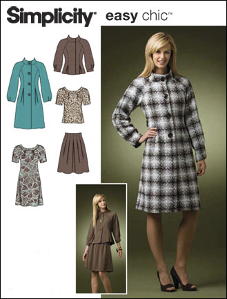 Simplicity Misses/Miss Petite coat or jacket, dress or top and skirt 2764