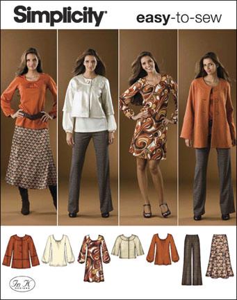 Simplicity Misses' & Plus Size Sportswear 2766