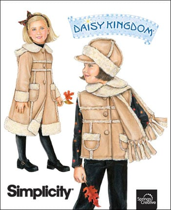 Simplicity Child's coat, vest, scarf and hat 2778
