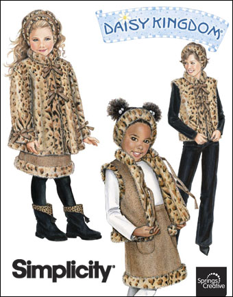 Simplicity Child's and misses' reversible vest, headband and child's coat and skirt 2780
