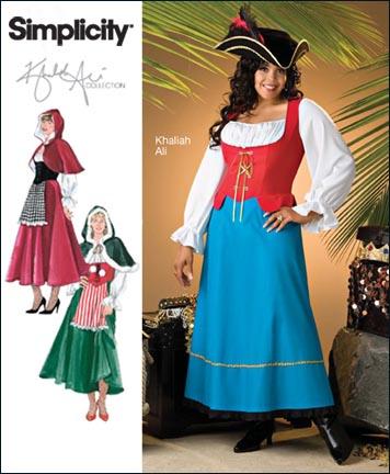Simplicity Plus Size & Plus Size Petite Costume Khaliah Ali Collection 2800