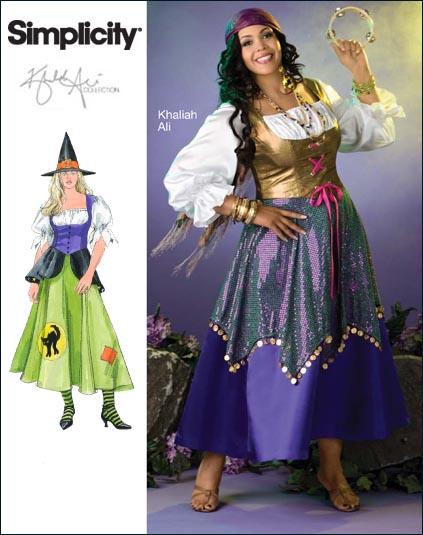Simplicity Plus Size & Plus Size Petite Costume Khaliah Ali Collection 2803
