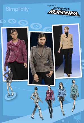 Simplicity  Misses Lined Jackets Project Runway Collection 2810