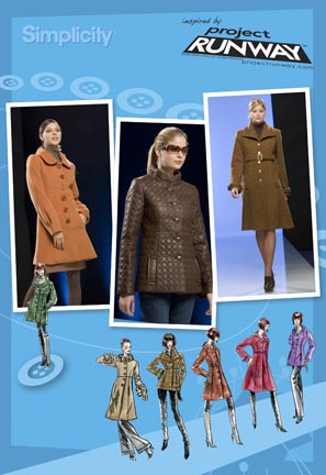 Simplicity Misses Lined Coat and Jacket Project Runway Collection 2812