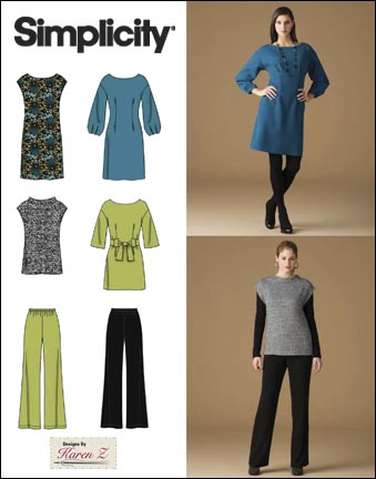 Simplicity Misses & Miss Petite Dress, Tunic, Tie Belt, Top and Pants 2814