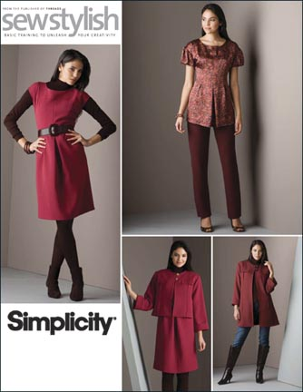 Simplicity  Misses & Miss Petite Dress, Top, Jacket & Slim Pants Sew Stylish Collection 2816