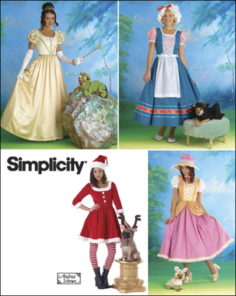 Simplicity Misses & Dog Costumes 2827