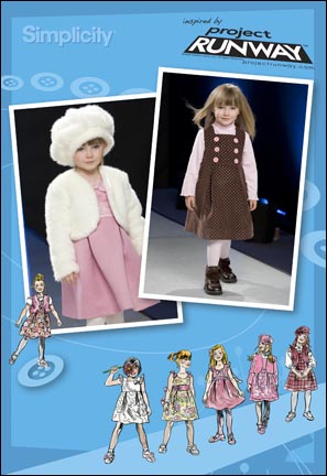 Simplicity  Child Dress, Jumper, Jacket, Vest & Hat Project Runway Collection 2828