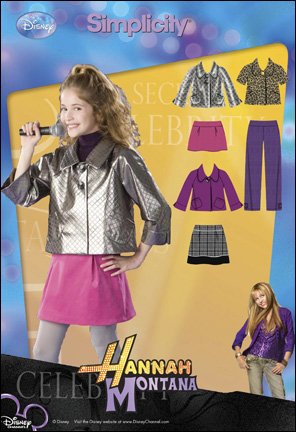 Simplicity Girl or Girl Plus Pants, Skirt, Mini Skirt and Jacket Hannah Montana Collection 2833
