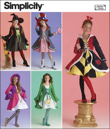 Simplicity  Girl Costumes and Hat 2834