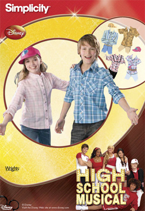 Simplicity  Girls & Boys Shirt and Cap High School Musical Collection 2836