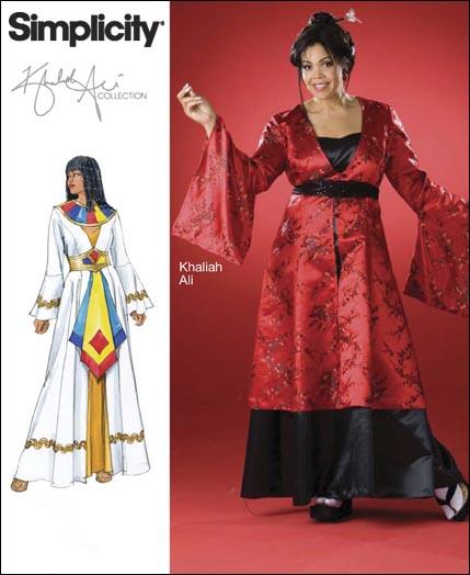 Simplicity Plus Size & Plus Size Petite Costume Khaliah Ali Collection 2837
