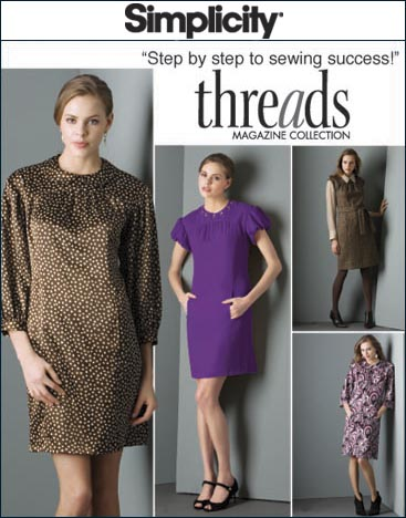 Simplicity Misses & Miss Petite Dresses and Belt Threads Collection 2844