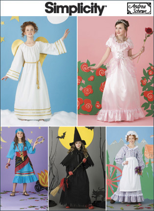 Simplicity Child and Girls Costumes 2845