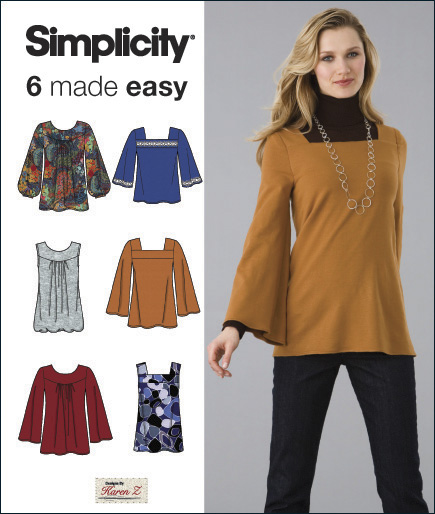Simplicity Misses Knit Tunics or Tops 2852