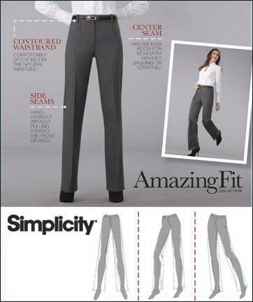 Simplicity Misses & Miss Petite Pants Amazing Fit Collection 2860