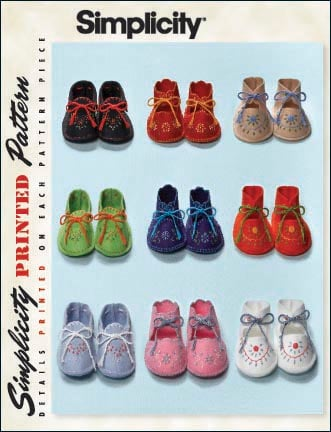 Simplicity Vintage Baby Booties 2867