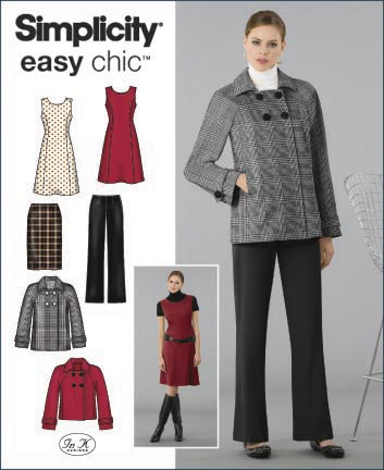Simplicity Misses or Plus Size Pants, Skirt, Jacket and Lined Jumper 2868