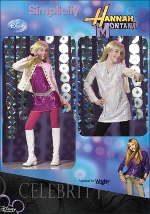 Simplicity Girls Hannah Montana Costume: Disney 2869
