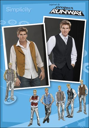 Simplicity Men Lined Vest Project Runway Collection 2870