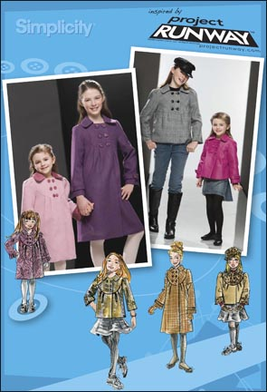 Simplicity Child or Girl Coat, Jacket and Hat Project Runway Collection 2876