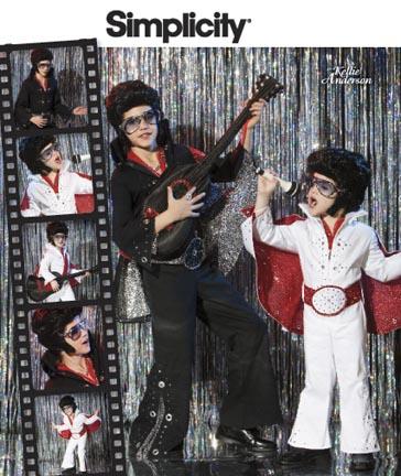 Simplicity Boys Costume, Guitar Bag and Belt 2880