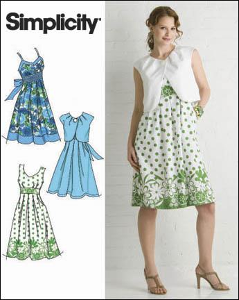 Simplicity Misses Dresses 2886
