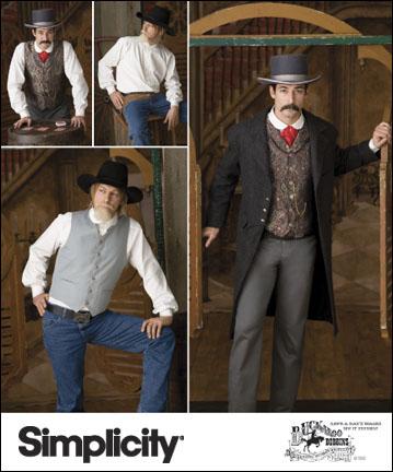 Simplicity Men Costumes 2895