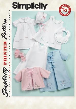 Simplicity Babies' 1950's Vintage Layette 2900