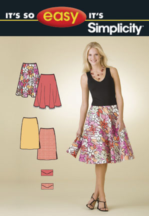 Simplicity It's So Easy Misses Skirts and Purse 2906