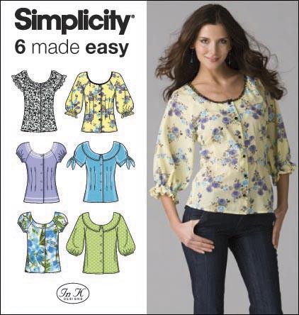 Simplicity Misses Blouses 2936