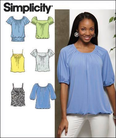 Simplicity Misses Knit Tops 2971