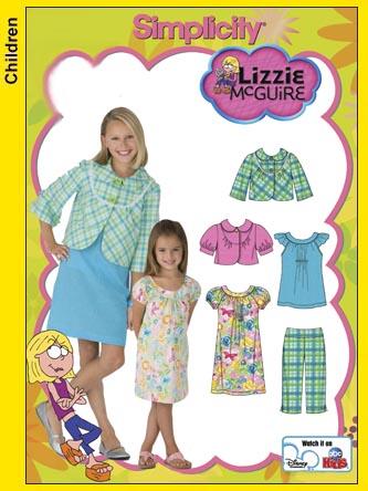 Simplicity Lizzie McGuire wardrobe 3513