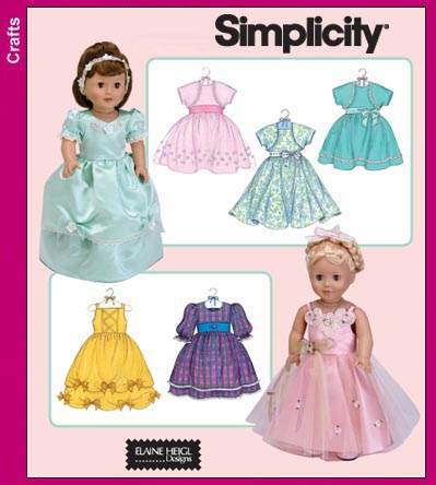 Simplicity 18 inch Doll Clothes 3547
