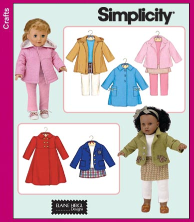 Simplicity 18 inch Doll Clothes 3551