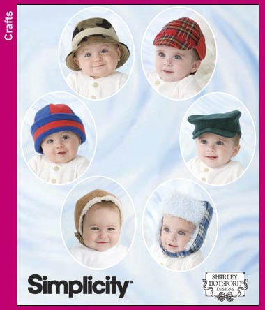 Simplicity Babies' and Toddlers' Hats 3555