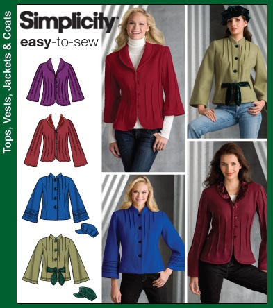 Simplicity Ease-to-Sew Jackets 3563