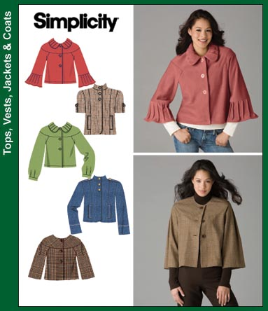 Simplicity Misses Jackets 3627
