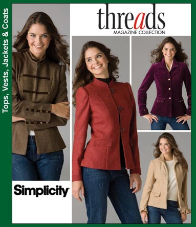 Simplicity Jackets/Blazers (Threads) 3628